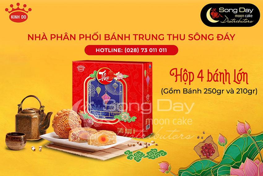 Hộp bánh Kinh Đô 4 bánh loại lớn